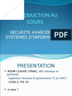 0-INTRODUCTION AU COURS de SECURITE AVANCEE DES SYSTEMES D'INFORMATIONS.ppt