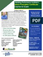 BPI's Building Science Principles Certificate Course