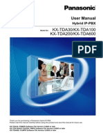 Panasonic TDA30-100-200-600 User Manual