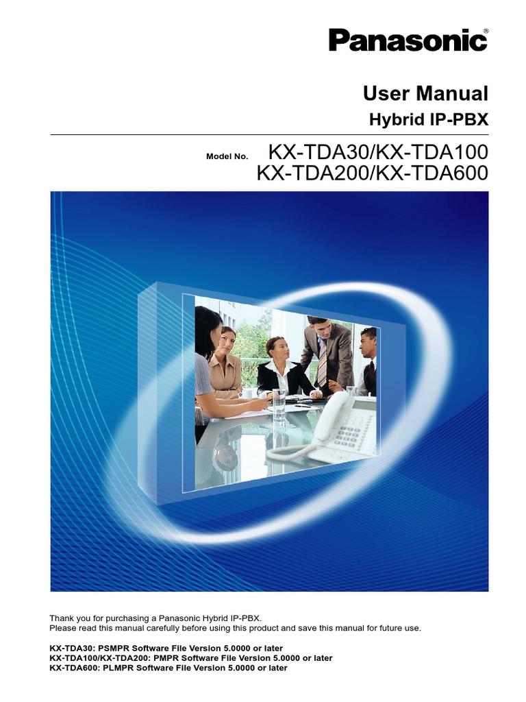 Panasonic tda30-100-200-600 user manual | telephone | voicemail.