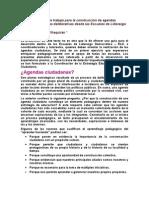 Construcción de agendas ciudadanas y mesas deliberativas