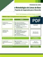 Programa Diseño Metodológico de Líneas de Base en Programas y Proyectos de Cooperación Para El Desarrollo