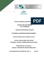 Plan de Trabajo Con Calendarización de Tutor Visitas Al Tutorado, Ya Puesto en Línea en El Diplomado_TZEC REYES JOSE_ TERD720322 4P2