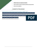 Recife Educ Gabarito Preliminar