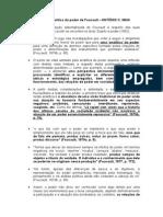 Sobre a Analítica Do Poder de Foucault - Antonio Maia FICHAMENTO