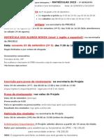 Cartaz Informacoes 2015.2