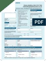 ARG Pet Claim Form