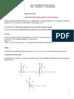 Aula 3 - Função Constante - Identidade - Linear e Afim