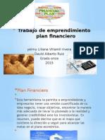 trabajo de emprendimiento plan financiero