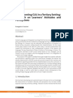 Implementing CLIL in Tertiary Education