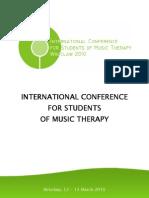 Miedzynarodowa Konferencja Studentow Muzykoterapii Program En