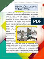 Contaminación Sonora en Pachitea