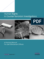 Human Rights in Counter Terrorism Investigations a Practical Manual for Law Enforcement Officers