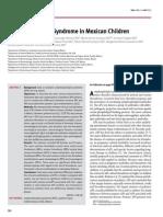 Síndrome Antifosfolípidos en niños mexicanos