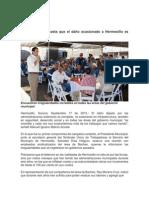 17-09-15 Señala Maloro Acosta que el daño ocasionado a Hermosillo es completo