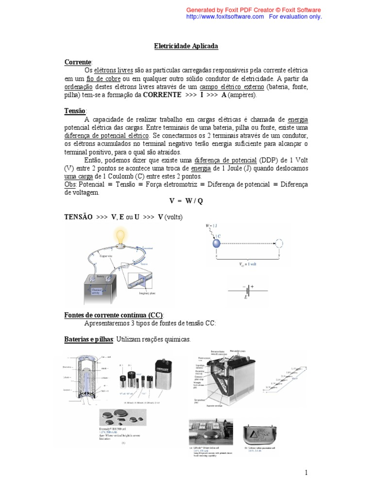 Apostila de eletricidade aplicada ccuart Image collections