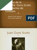 Duns Scoto y Guillermo de Ockham