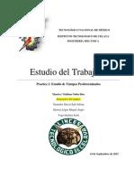 Practica 1 Estudio de Tiempos Predeterminados VEGA GRANADOS HERRERA