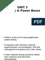 Politics and Power Bases Unit 2