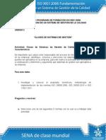 Actividad de Unidad 2 Clases de SGC