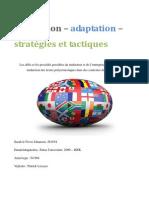 Sarah le Fevre Johansen - Traduction Adaptation Strategies Et Tactiques