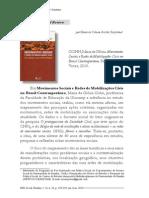 Critica- Movimentos Sociais e Redes de Mobilização