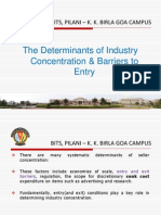 4-The Determinants of Industry Concentration Barriers to Entry