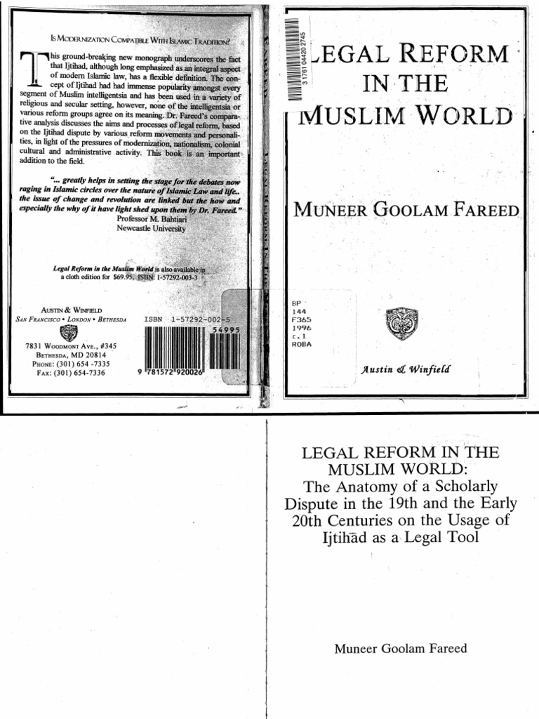 Legal Reform In The Muslim World The Anatomy Of A Scholarly Dispute