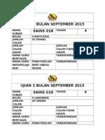 Ujian 2 Bulan September 2015