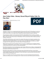 Jazz Guitar Solos - Barney Kessel Played Guitar Like No One Else!