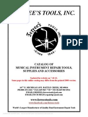 Ferrees Catalog 7-18-13 | Trombone | Brass Instruments