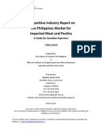 Competitive Industry Report on the Philippines Market for Imported Meat and Poultry [2010]