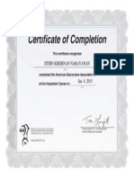 Inspection Course Test Certificate