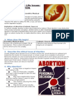6. Contemporary Life Issues - ABORTION