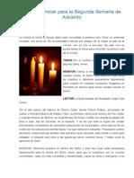 Liturgia Familiar Para La Segunda Semana de Adviento