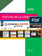 Festival de la Comunidad PUCP 2015   Bases Generales