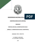 Evaluación Metodologia de La Investigacion Social Cuantitativa