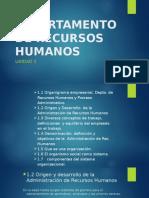 El Departamento de Recursos Humanos