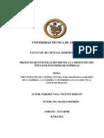 Recuperación de Cartera Vencida Para Mejorar La Liquidez de La Empresa Lavandería y Tintorería Lavaclassic en La Ciudad de Pelileo