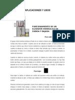 Aplicaciones y Usos-elevador Hidráulico