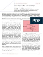 Design of Quaternary Arithmetic Unit in Standard CMOS
