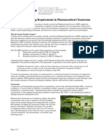 Particle Monitoring Requirements in Pharmaceutical Cleanrooms