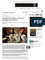Forbes India Magazine - Branded Jewellery is the New Darling of Investors