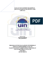 Skripsi Pelaksanaan Manajemen Kearsipan Dalam Ketatausahaan