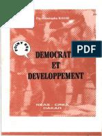 KASSE, Moustapha. Democratie Et Developpement en Afrique.