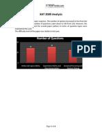 Analysis XAT 2009