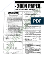 ICET 2004 Question Paper with Answers Free Download