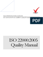 ISO 22000 Food Safety Management Quality Manual