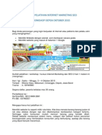 Workshop Pelatihan Kursus Internet Marketing SEO Depok 2015
