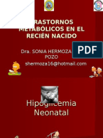 TRASTORNOS METABÓLICOS EN EL RECIÉN NACIDO
